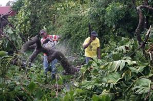 Le nettoyage d'après cyclone a bien avancé sur le territoire de la commune de Trois-Rivières.