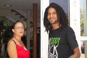 Nicy (artiste et parrain de la manifestation) & Louisiane Deglas (Commission formation Insertion jeunes)